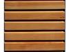 Schiebeladen aus Holz mit Stahlrahmen Modell 1