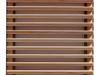 Schiebeladen aus Holz mit Stahlrahmen Modell 2