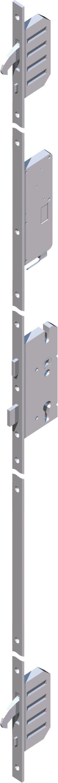 Haustür: AV2 Automatische 3-fach Verriegelung = Schloß verschließt beim Zuziehen automatisch - Öffnung manuell oder mit Motor